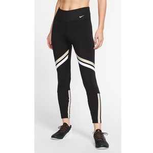 Nike One Icon Clash Dri-fit Metallic Legging Black